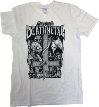 Swedish Death Metal - Vit T-shirt