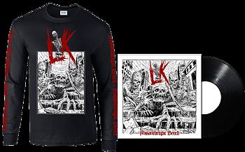 LIK - Misanthropic Breed SVART LP + Longsleeve [PRE-ORDER]