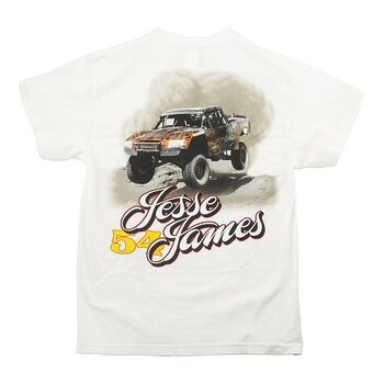 "JESSE JAMES T-SHIRT "" FRÅN WESCOAST CHOPPERS"" VIT, XL"