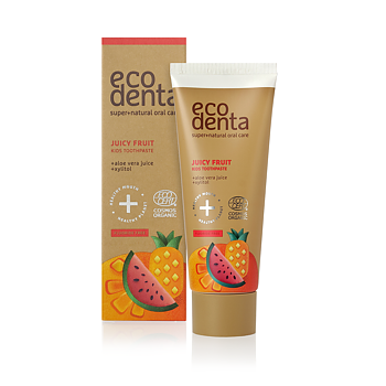 ECODENTA Organic Juicy Fruit Kids Toothpaste (uten fluor)