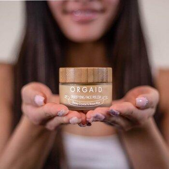 ORGAID Honey Crystal & Brown Rice Purifying Face Polish 56g