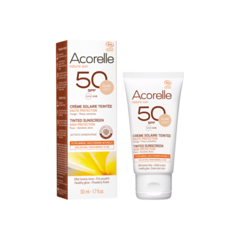 Acorelle Tinted Sun Face Cream spf 50 – 50ml (Light) Nyhet 2020