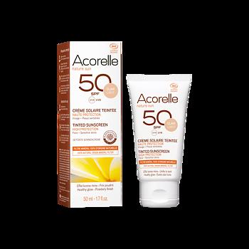Acorelle Tinted Sun Face Cream spf 50 – 50ml (Light) Nyhet 2020