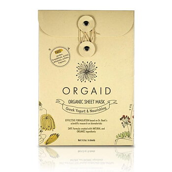 ORGAID Greek Yogurt & Nourishing Organic Sheet Mask Box(4 stk.)