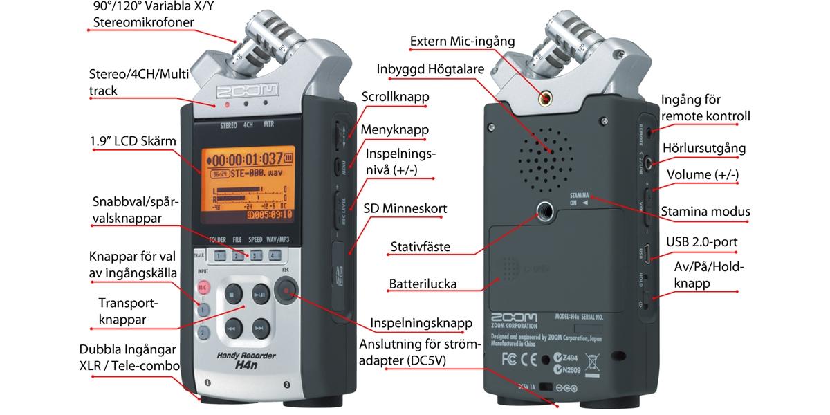 Zoom H4n Pro Handy Recorder Voosestore