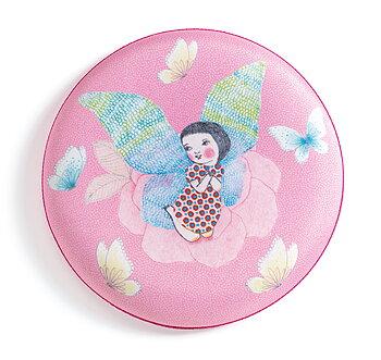 Frisbee rosa med älva
