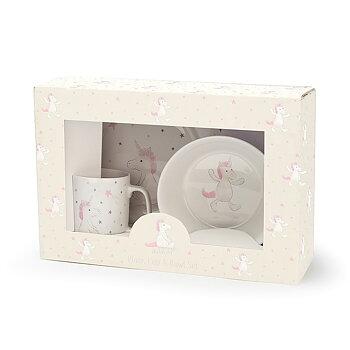 Enhörning Keramik Skål, Mugg,Tallrik set
