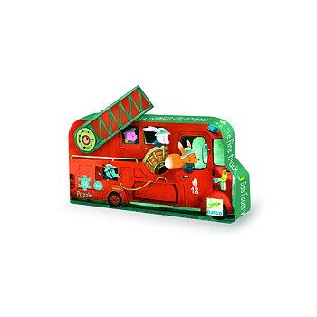 Siluettpussel Fire truck