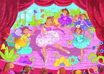 Pussel från Djeco Ballerina och flower Pussel