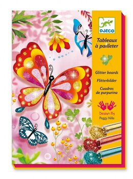 Glitterbilder sandbilder Glitter Fjärilar