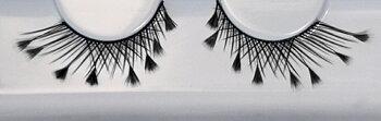 Grimas Ögonfransar / Eyelashes 150 - Svarta med fjädrar