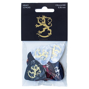 Finnish Lion Celluloid Guitar Picks Heavy (12-Pack)
