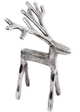 Ren hjort silver-färgad stor reindeer