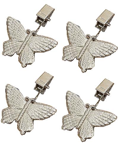 Duktyngder fjäril set med 4 st shabby chic lantlig stil