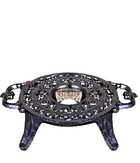 Grytunderlägg värmare gjutjärn på fot shabby chic lantlig stil fransk lantstil