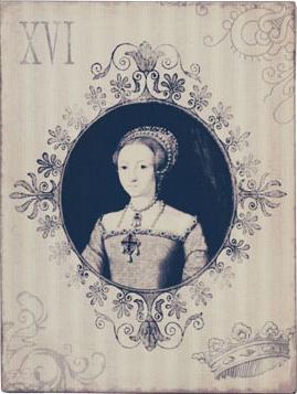 Fransk liten ask plåtask Prinsessa shabby chic lantlig stil