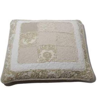 Kudde medallion quilt lapptäcke shabby chic lantlig stil
