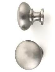Rund knopp matt silver shabby chic lantlig stil