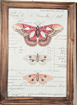 Tavla trä fjärilar 2 shabby chic lantlig stil