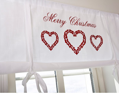 Knythissgardin Merry Christmas shabby chic lantlig jul