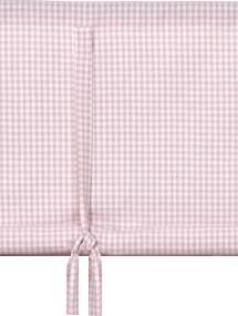 Rosa rutig hissgardin 100-160cm