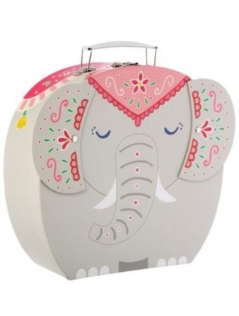 Väska Söt Elefant resväska shabby chic lantlig stil
