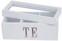 The låda i trä med glaslock