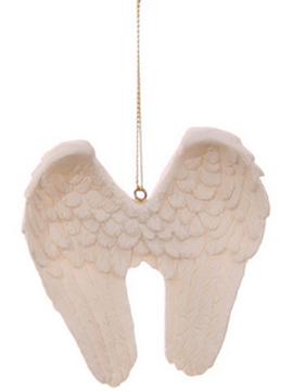 Vita änglavingar keramik romantiska shabby chic lantlig stil