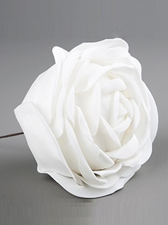 Vit ros i tyg 7, 10 cm per st shabby chic lantlig stil