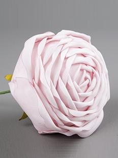Rosa rosor i tyg 2,5, 5, 7, 10  cm per st shabby chic lantlig stil