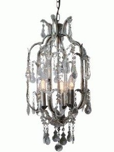 Kristallkrona silver Rokoko shabby chic lantlig stil