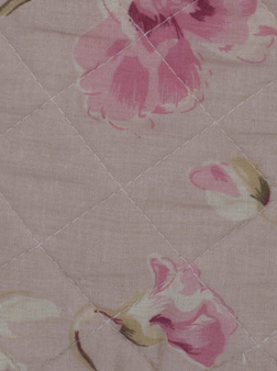 Överkast / kuddfodral brocante Dusty Rose quilt fransk lantstil shabby chic lantlig stil