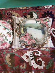 Kuddfodral / kudde Utsikt rosor Van Asch