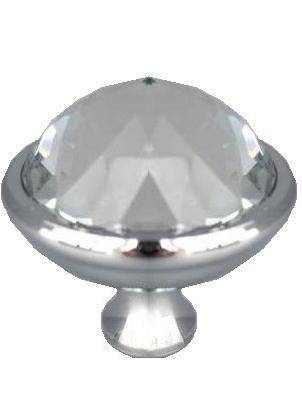 Knopp glas diamant silver färgad krom shabby chic lantlig stil