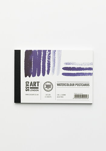 Water color paper, Cool Stripe Postcard