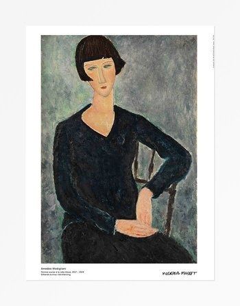 Amedeo Modigliani, Woman in a Blue Dress, Seated