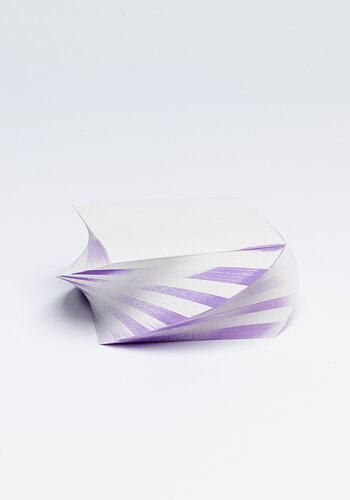 Twisted note pad, Lavender