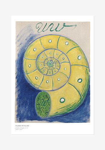 Folder med konstblad ur serien Urkaos, Hilma af Klint
