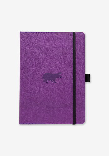 Notebook, Purple hippo, A5