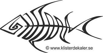 Bildekal Fisk i linjer