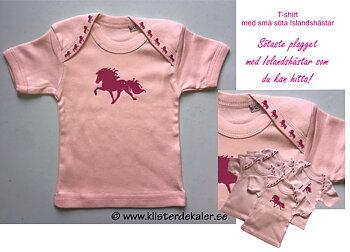 T-shirt baby 6-12 mån, Sötaste Islandshästarna!
