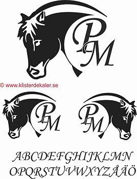 Fjording horse +initials
