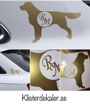 Golden retriever, your own initials