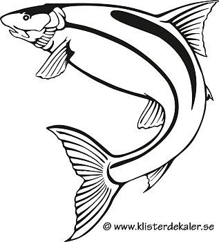 Bildekal Fisk - profil 1