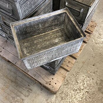 Metal Workshop  Bin - Galvanized, set av 3 st.