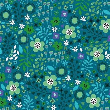 Blommor på mörkblå botten