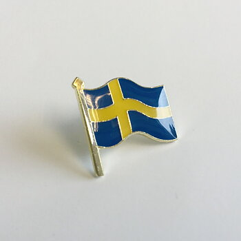Flaggpins Sverige, 16 mm