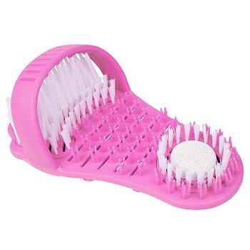 Sweepie fotborste med pimpsten, rosa