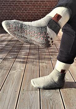 Buddha Socks, antihalksocka i ull, svart