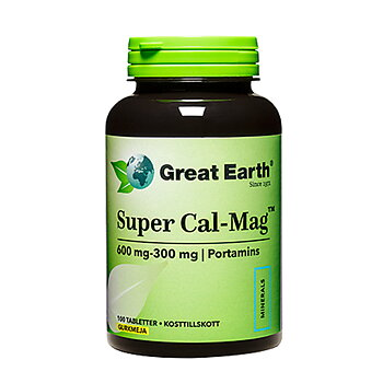 Great Earth Super Cal-Mag, 600/300 mg, 100 tabletter